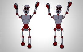 Dancing Robot Flash Animation