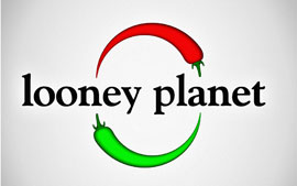 Looney Planet - Logo for catering company with a a fair bit of inspiration from Lonely Planet