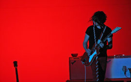 Jack White of The White Stripes at the O2 Wireless Festival 2006 (Taken from crowd)