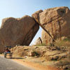Rock formations in the ruins of Vijayanagara, Hampi, India