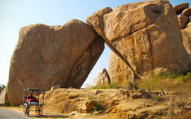 Rock Arch in the ruins of Vijayanagara, Hampi, India