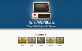 RetroWebMatic - Vintage Photo Effects for Websites