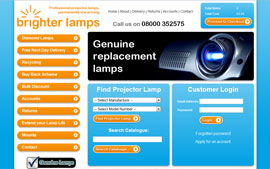 Brighter Lamps E-Commerce Website