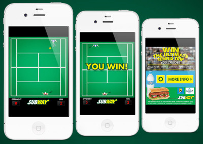 Subway Tennis Game