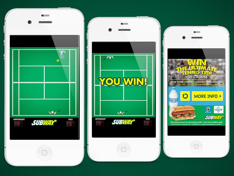Subway Tennis Game