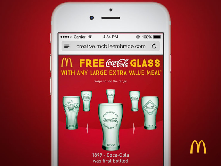 McDonalds Free Coke Glass