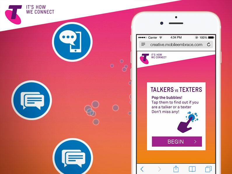 Telstra Talkers VS Texters