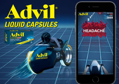 Advil Liquid Capsules Racing Game