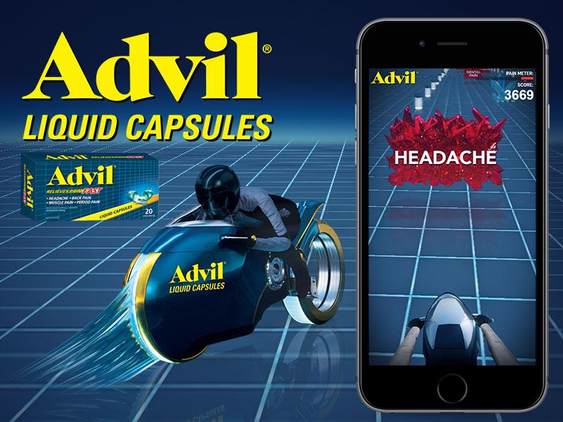 Advil Liquid Capsules Racing Game